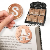 LITERARY LETTERS METAL BOOKMARKS