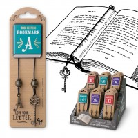 BOOK KEEPERS ANTIQUED LETTER BOOKMARKS