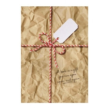 GIFT WRAP FOR BOOKS - BROWN PAPER PARCEL
