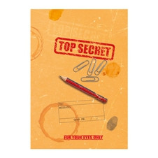 GIFT WRAP FOR BOOKS - TOP SECRET