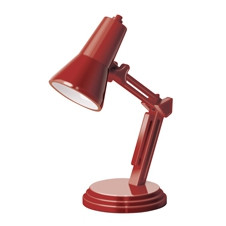 THE BOOK LAMP - RETRO RED