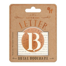 LITERARY LETTERS METAL BOOKMARKS - LETTER B