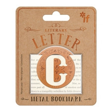 LITERARY LETTERS METAL BOOKMARKS - LETTER C