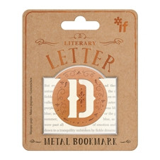 LITERARY LETTERS METAL BOOKMARKS - LETTER D