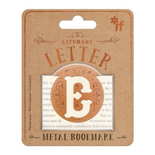LITERARY LETTERS METAL BOOKMARKS - LETTER E
