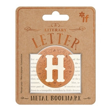 LITERARY LETTERS METAL BOOKMARKS - LETTER H