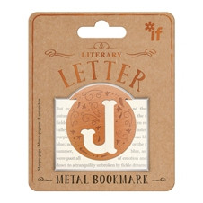 LITERARY LETTERS METAL BOOKMARKS - LETTER J