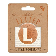 LITERARY LETTERS METAL BOOKMARKS - LETTER L