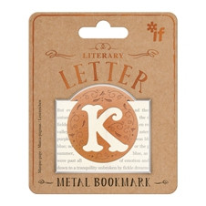 LITERARY LETTERS METAL BOOKMARKS - LETTER K