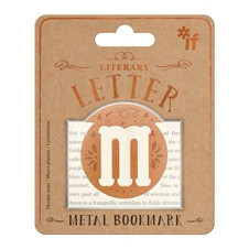 LITERARY LETTERS METAL BOOKMARKS - LETTER M