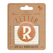 LITERARY LETTERS METAL BOOKMARKS - LETTER R