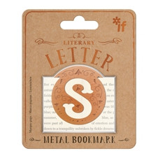 LITERARY LETTERS METAL BOOKMARKS - LETTER S