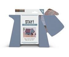 STAY! DOGGY BOOK REST - GREY PLAID