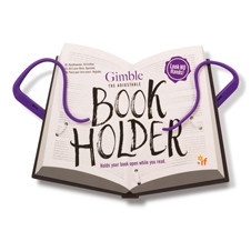 GIMBLE ADJUSTABLE BOOK HOLDER - POSITIVELY PURPLE
