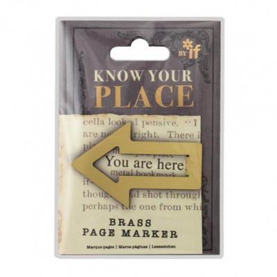 KNOW YOUR PLACE PAGE MARKERS - BRASS