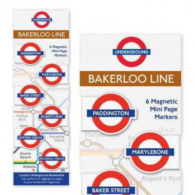 LONDON UNDERGROUND MINI-MAGNETIC BOOKMARK - BAKERLOO LINE