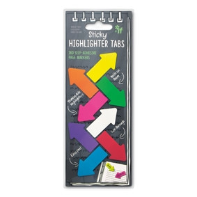 - STICKY HIGHLIGHTER TABS