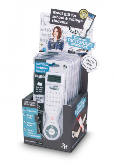 ELECTRONIC DICTIONARY BOOKMARK (SINGLE LANGUAGE - UK) - SINGLE LANGUAGE (UK) STARTER PACK (6pc CARD DISPLAY)