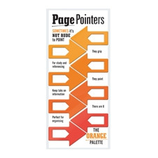 PAGE POINTERS PAGE MARKERS - ORANGE
