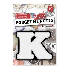 FORGET ME NOTES - LETTER K
