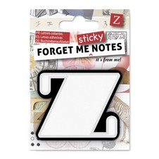 FORGET ME NOTES - LETTER Z