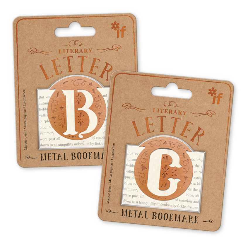 LITERARY LETTERS METAL BOOKMARKS 1
