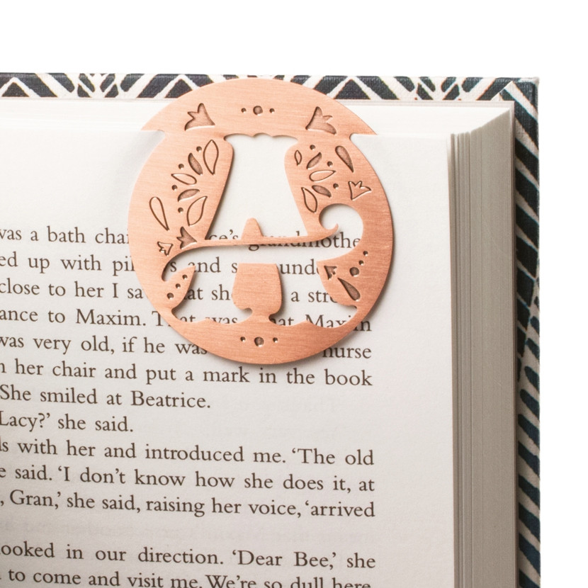 LITERARY LETTERS METAL BOOKMARKS 2