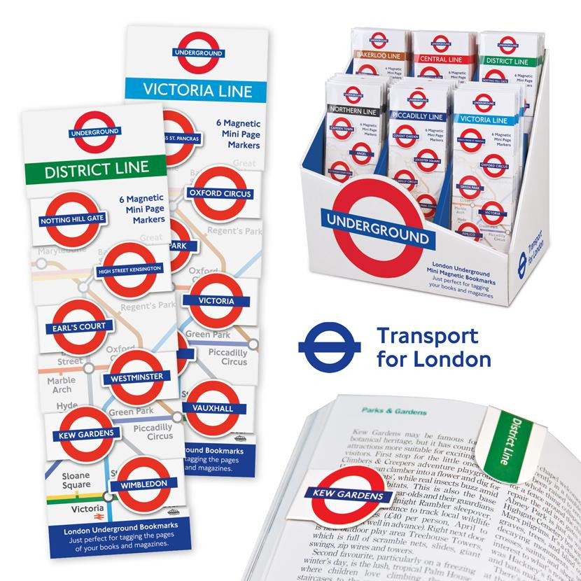 LONDON UNDERGROUND MINI-MAGNETIC BOOKMARK 0