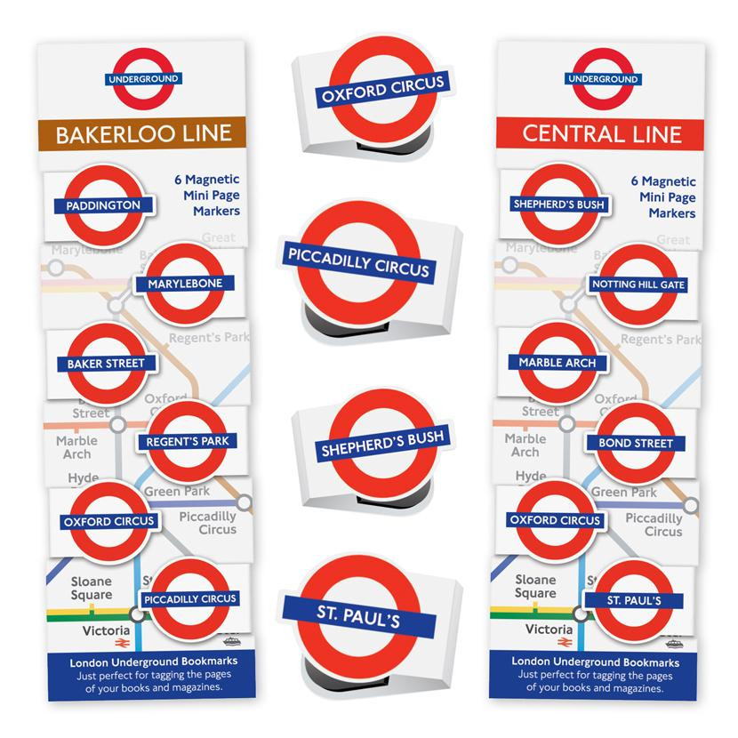LONDON UNDERGROUND MINI-MAGNETIC BOOKMARK 1