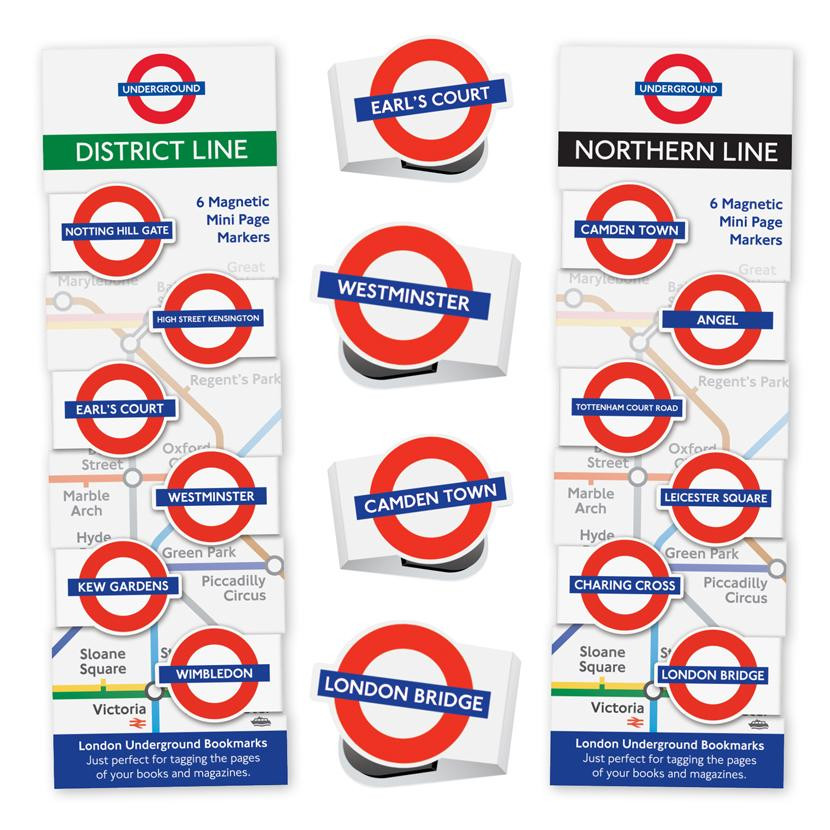 LONDON UNDERGROUND MINI-MAGNETIC BOOKMARK 3