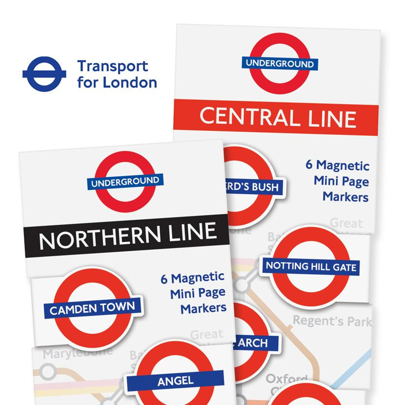LONDON UNDERGROUND MINI-MAGNETIC BOOKMARK 4