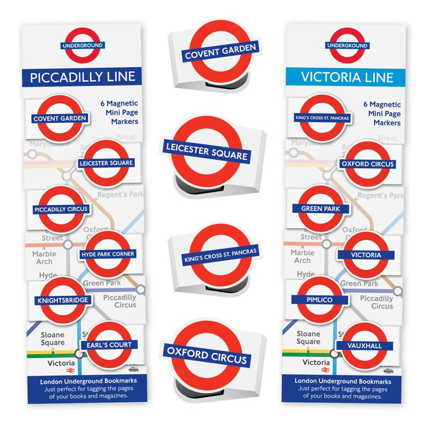 LONDON UNDERGROUND MINI-MAGNETIC BOOKMARK 5