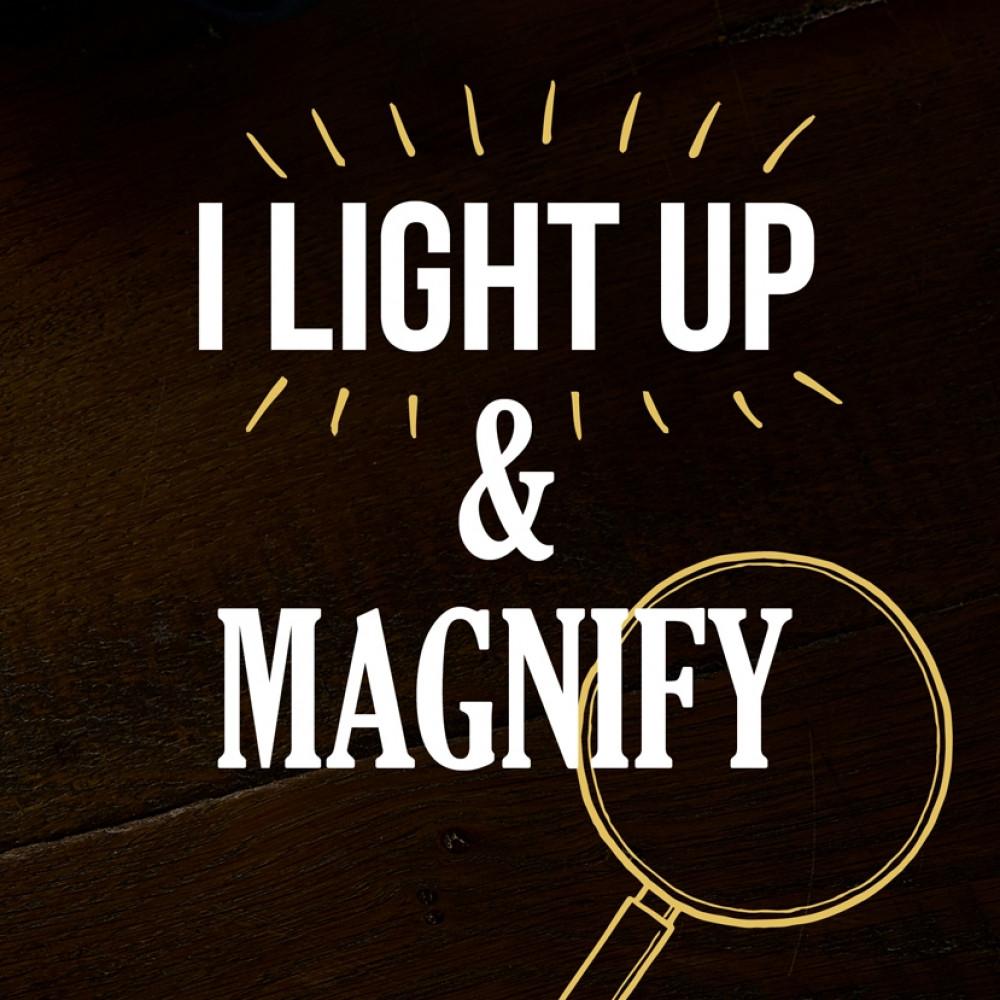 Aqua Light Up Menu Magnifier