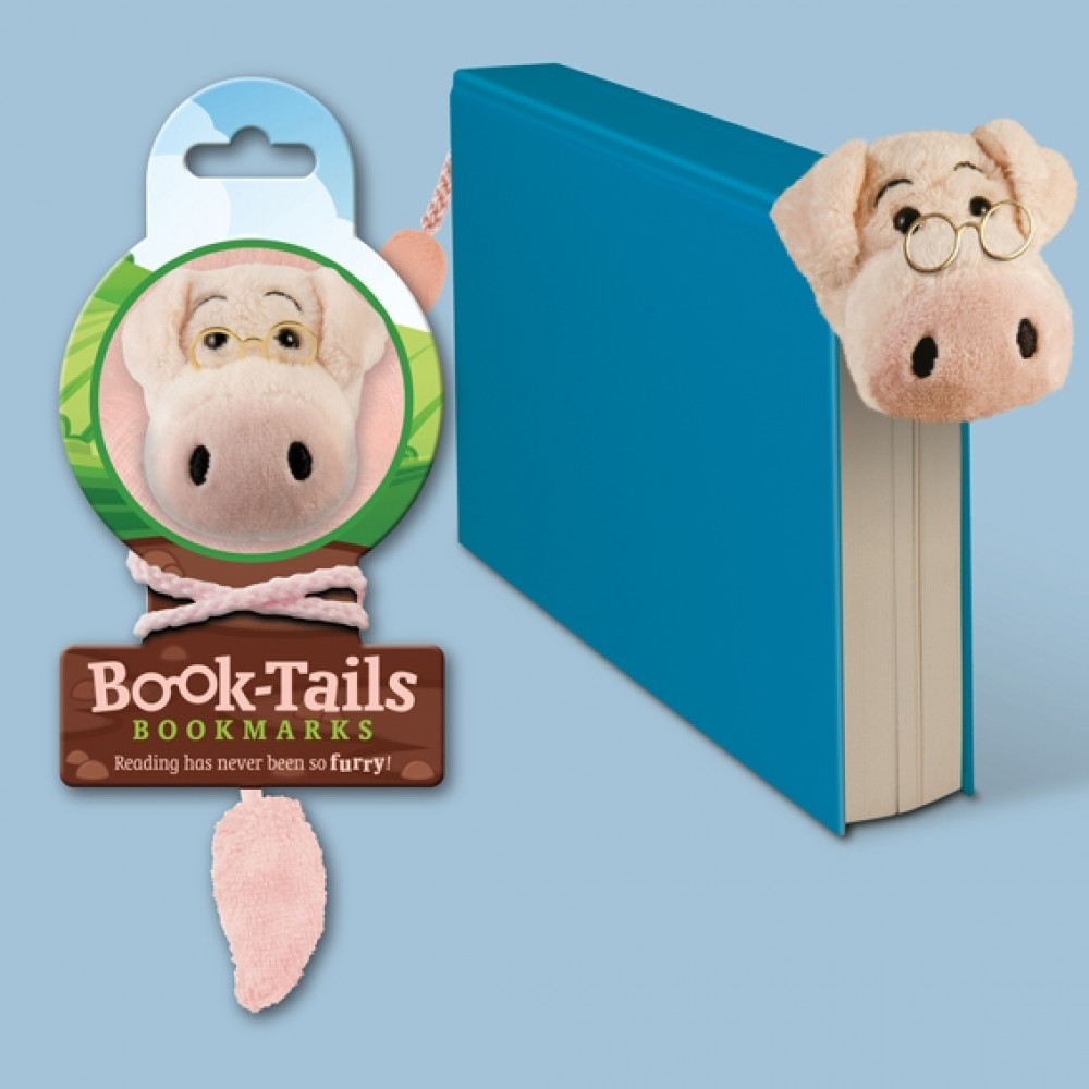 Dog IF Animal Book-Tails Bookmark Gifts for Kids Soft Plush